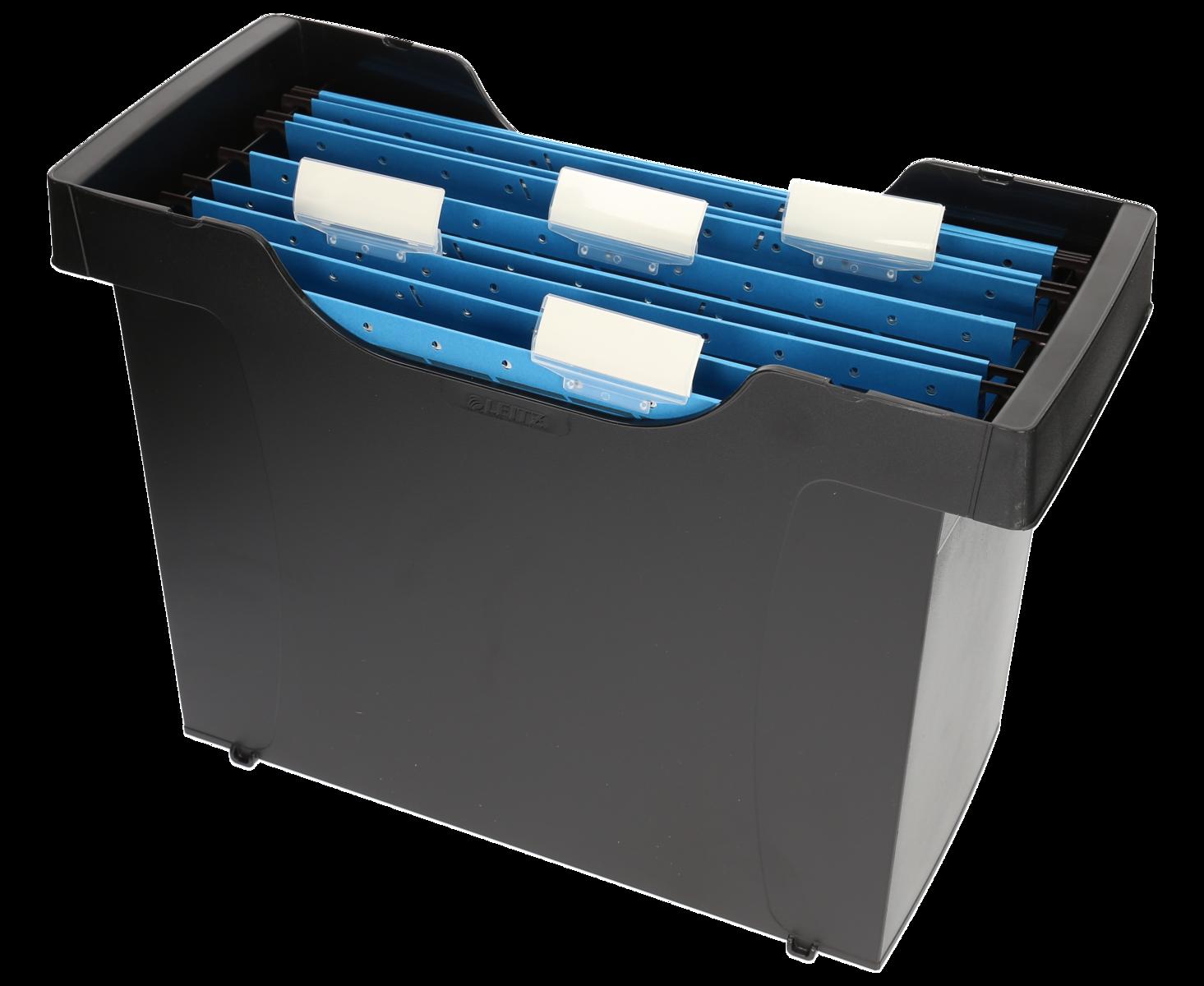 Cartelle Sospese Plastica.Leitz Box Per Cartelle Sospese Plus Mini Aktei Nero Plastica 1 Pezzi 39 5 Cm 27 3 Cm 17 Cm