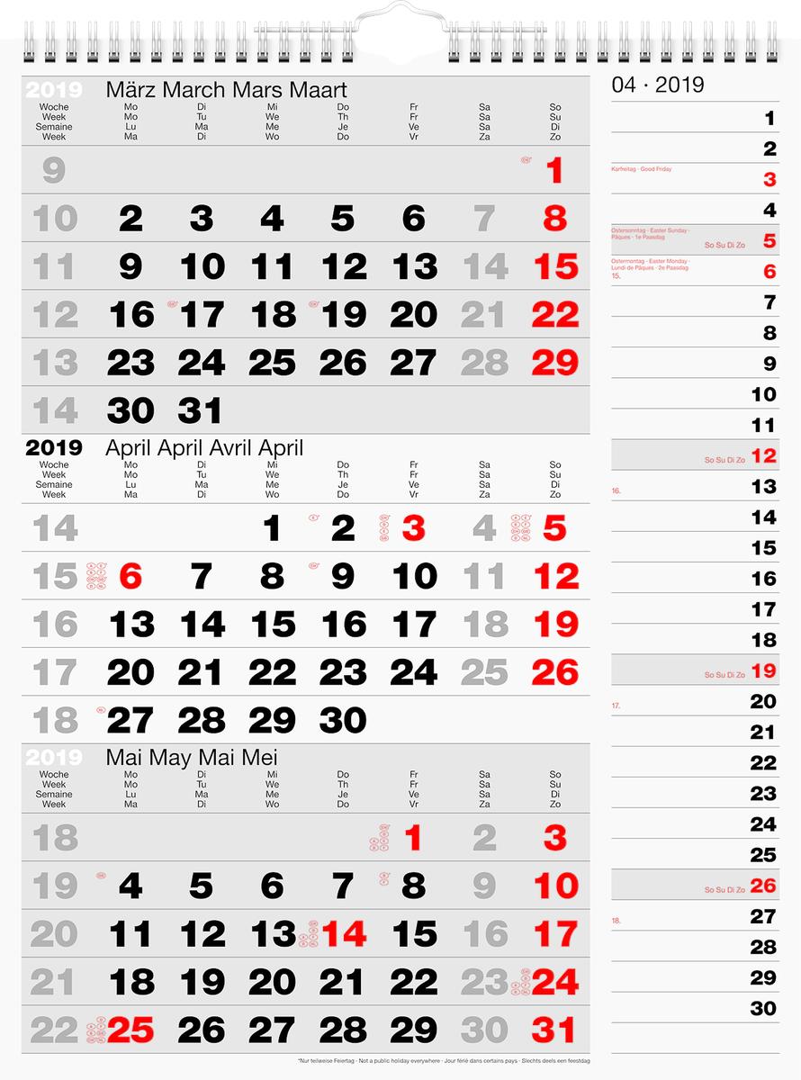 Calendario Trimestrali 2020.Simplex Calendario Trimestrale Nero Rosso Grigio 2020