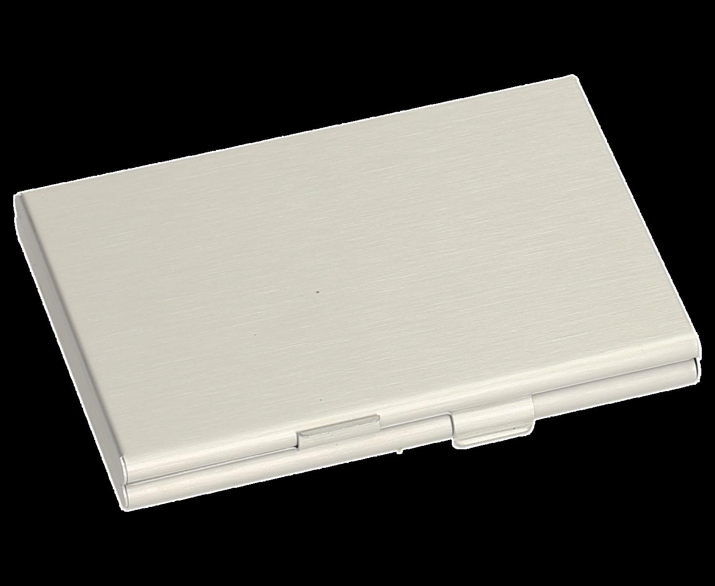 Sigel Visitenkarten Etui Twin Aluminium Silber 92 Mm