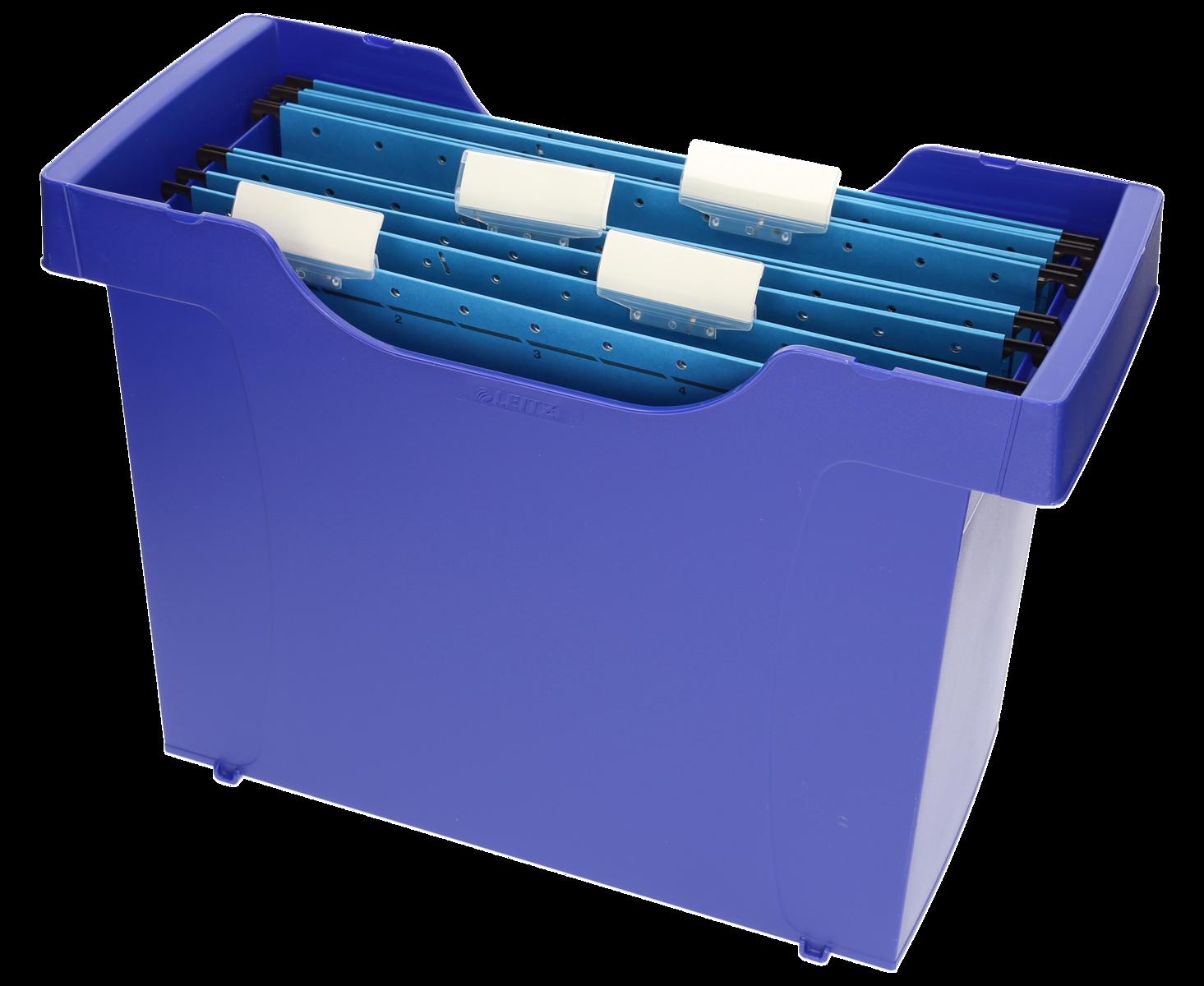 Cartelle Sospese Plastica.Leitz Box Per Cartelle Sospese Plus Mini Aktei Blu Plastica 1 Pezzi 39 5 Cm 27 3 Cm 17 Cm
